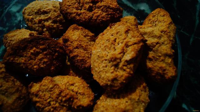 Рецепт Овсяное печенье с яблоками рецепт с фото