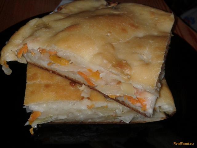 Рецепт Капустный пирог заливной рецепт с фото