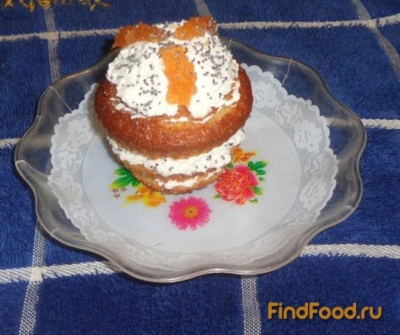 Рецепт Кексы с творогом и вареньем рецепт с фото
