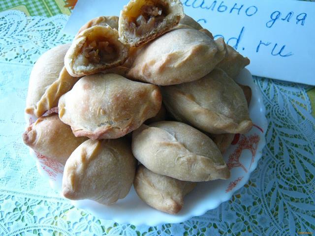 Рецепт Пирожки на кефире с сухофруктами рецепт с фото