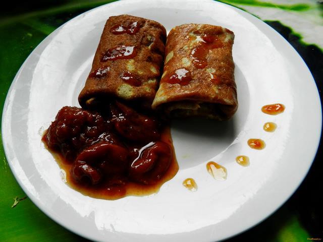 Рецепт Ржаные блинчики с абрикосовым вареньем рецепт с фото