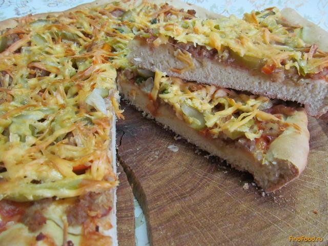 Рецепт Быстрая пицца на кефире рецепт с фото
