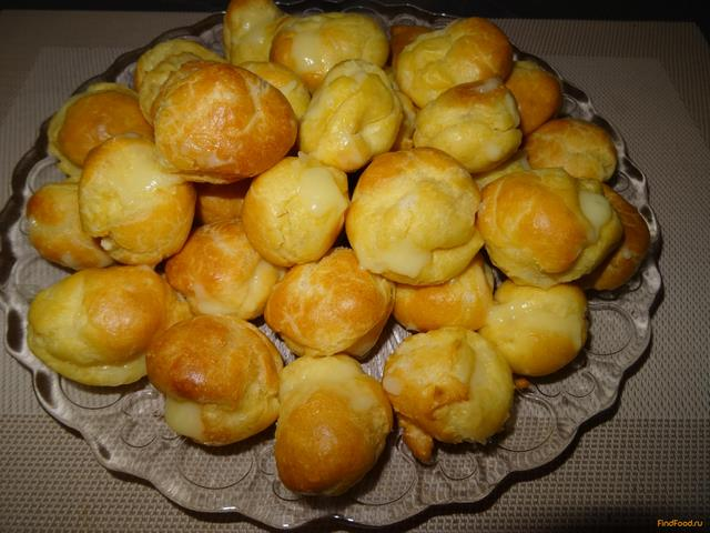 Рецепт Заварные пирожные с заварным кремом рецепт с фото