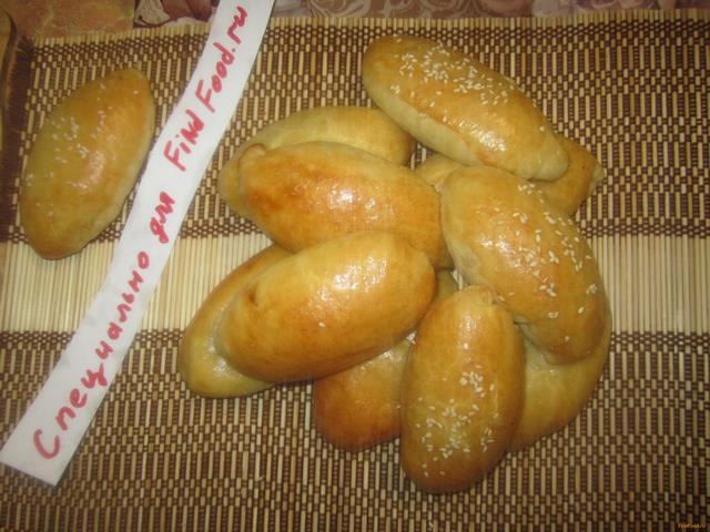 Рецепт Пирожки с капустой и кунжутом рецепт с фото