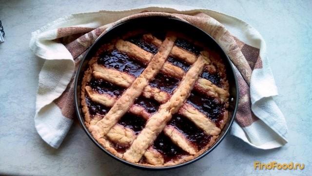 Рецепт Открытый пирог с повидлом рецепт с фото
