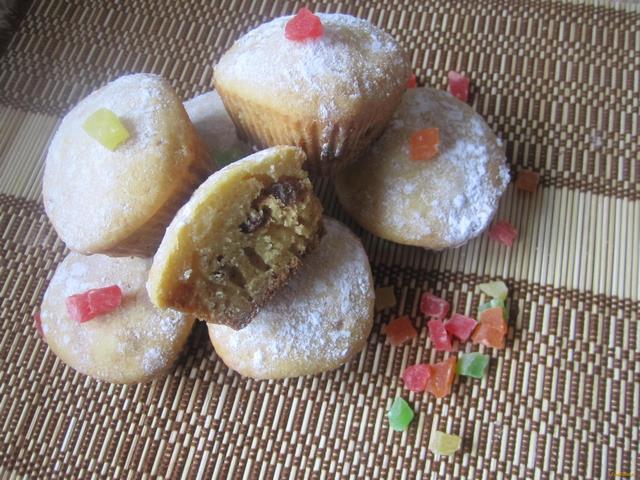 Рецепт кексы с цукатами и изюмом рецепт с фото