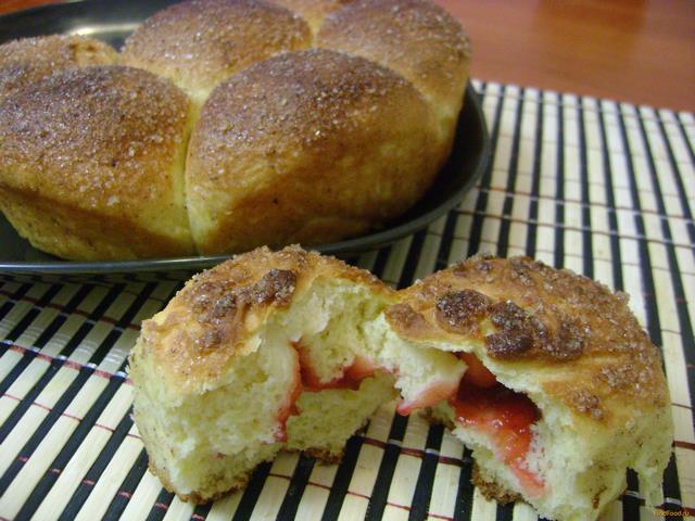 Рецепт Разборный курузный пирог с джемом рецепт с фото