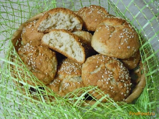 Рецепт Овсяное печенье с кунжутом рецепт с фото