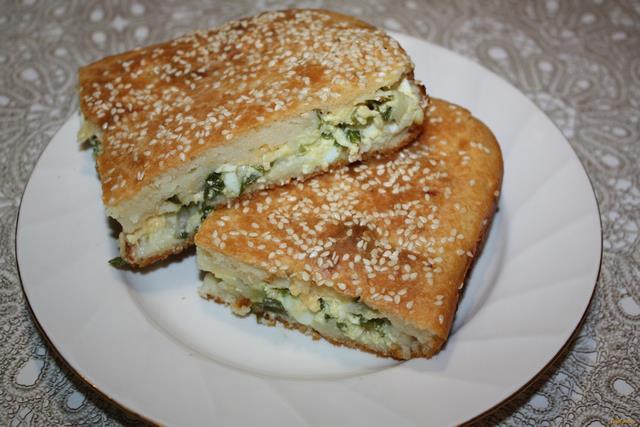 Рецепт Паштида с луком и яйцом рецепт с фото