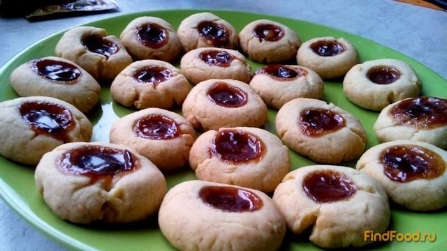 Рецепт Быстрое печенье с вареньем рецепт с фото