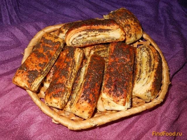 Рецепт Медовые слойки с маком рецепт с фото