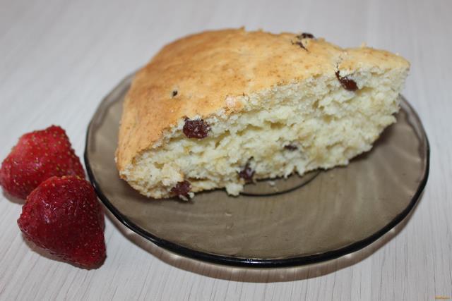 Рецепт Кекс из простокваши с изюмом рецепт с фото