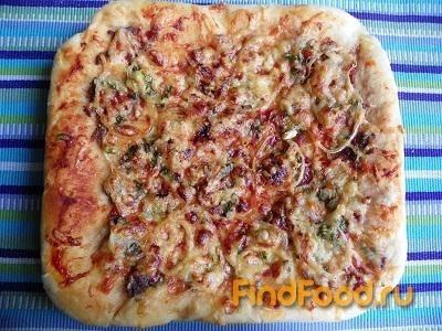 Рецепт Пицца с фаршем и луком рецепт с фото