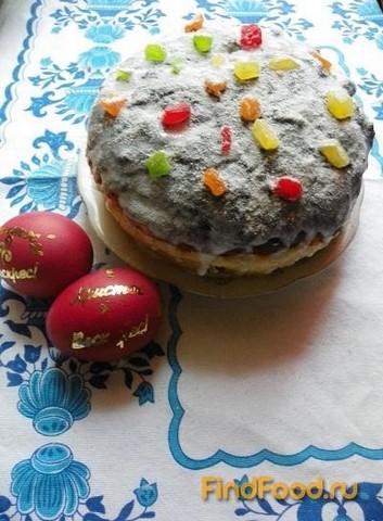 Рецепт Пасхальный кулич с изюмом и цукатами рецепт с фото