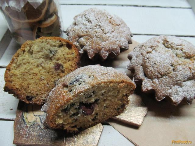 Рецепт Творожные кексы с вишней рецепт с фото