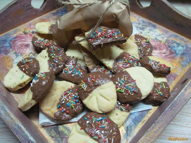 Рецепт Песочное печенье в шоколаде рецепт с фото