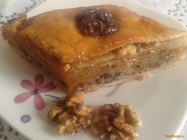 Рецепт Пахлава с грецким орехом рецепт с фото