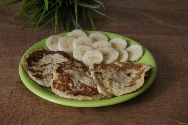 Рецепт Овсяные оладьи с бананом рецепт с фото