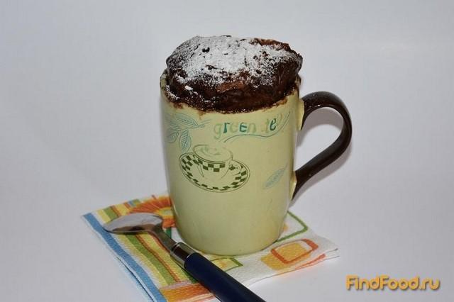 Рецепт Шоколадно - кофейный кекс в кружке рецепт с фото