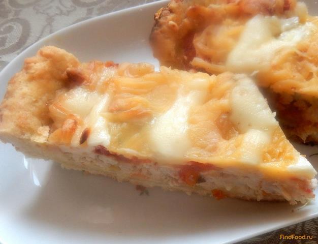 Рецепт Открытый пирог с мясом и овощами рецепт с фото