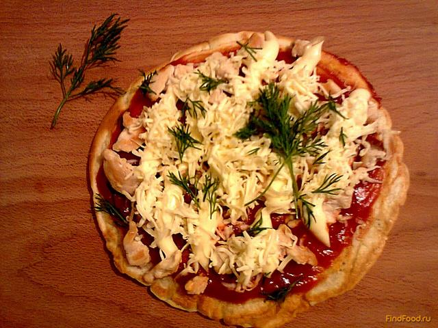 Рецепт быстрая пицца на сковороде фото