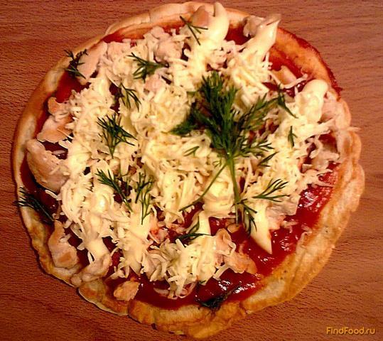 Рецепт Быстрая пицца на сковороде рецепт с фото