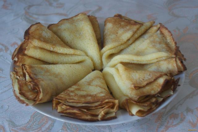 Рецепт Блинчики на кефире со сливочным маслом рецепт с фото