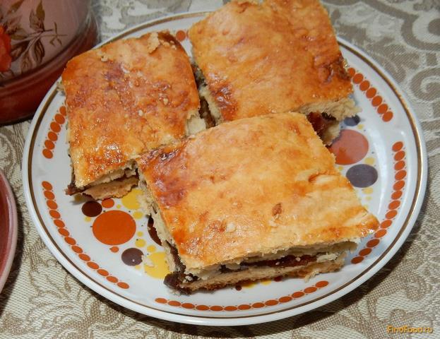 Пирог закрытый с вареньем рецепт пошагово в духовке дрожжевой