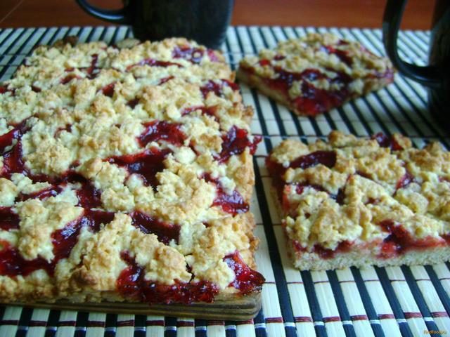 Рецепт Пирог с малиновым повидлом рецепт с фото