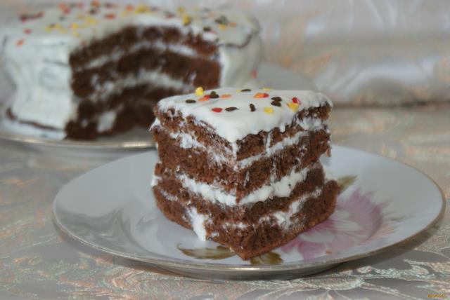 Рецепт Быстрый торт на сковороде рецепт с фото