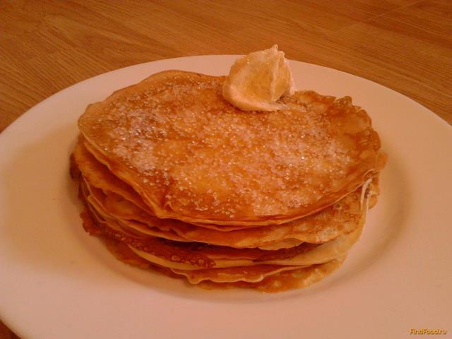 Рецепт Блины с лимонной цедрой рецепт с фото