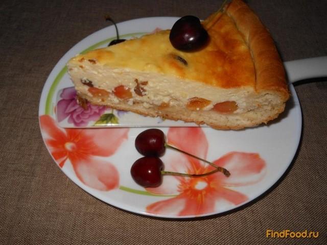 Рецепт Открытый пирог с черешней рецепт с фото