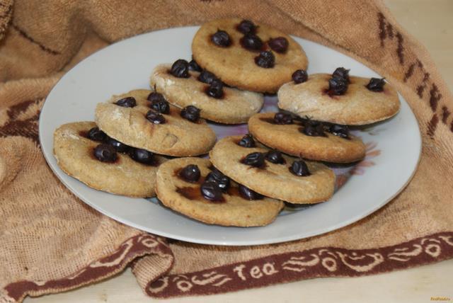 Рецепт Постное печенье с черной смородиной рецепт с фото