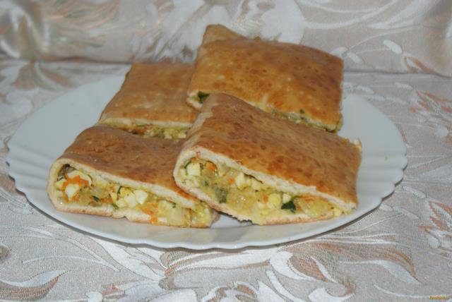 Рецепт Пирог с капустой и яйцом рецепт с фото