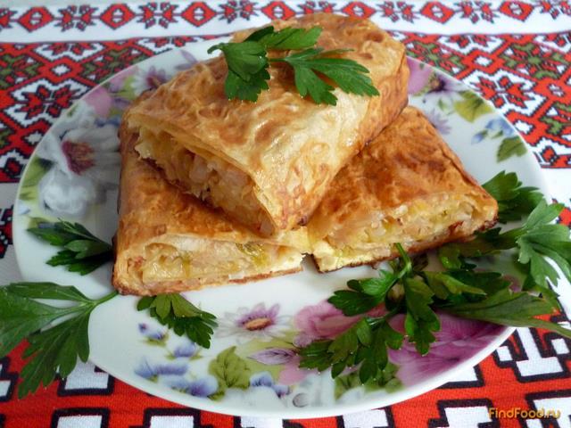 Пирог с капустой из лаваша рецепт с фото 10-го шага