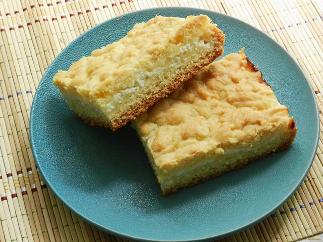 Рецепт Тертый пирог с творожной начинкой рецепт с фото
