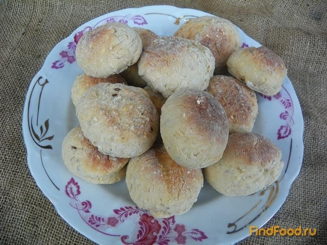 Рецепт Несладкие булочки из цельнозерновой муки рецепт с фото