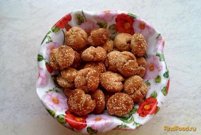 Рецепт Бананово - кунжутное печенье рецепт с фото