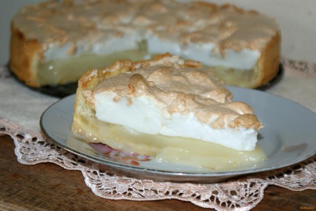 Рецепт Лимонный пирог с меренгой рецепт с фото