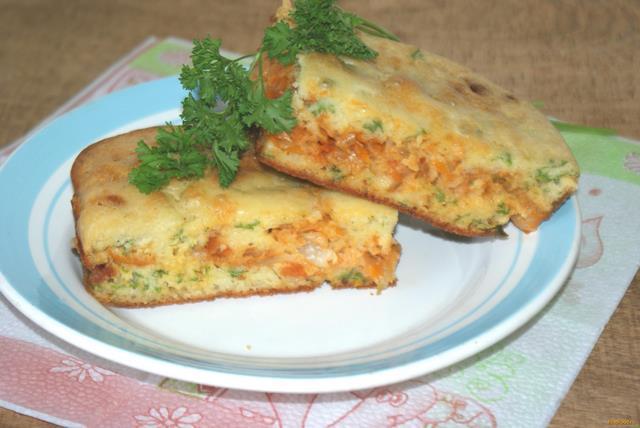 Рецепт Заливной пирог с капустой рецепт с фото