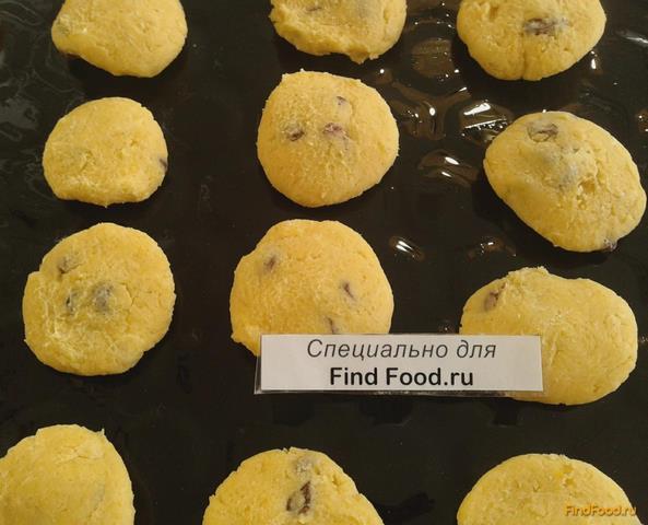 Песочное печенье на маргарине с изюмом рецепт с фото 7-го шага