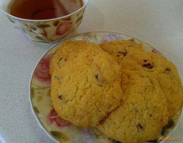 Рецепт Песочное печенье на маргарине с изюмом рецепт с фото