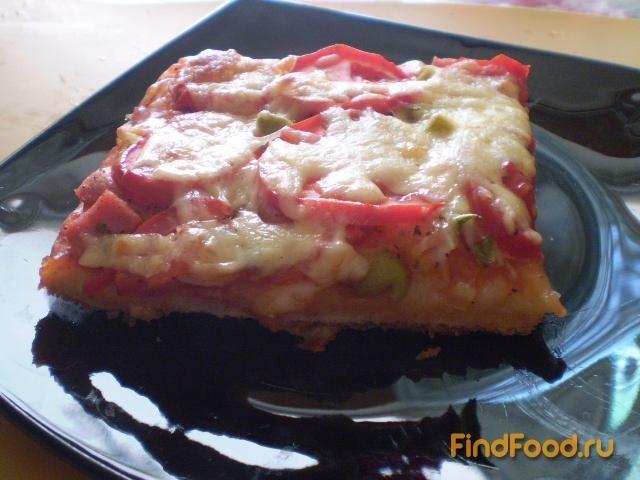 Рецепт Пицца на слоеном тесте рецепт с фото