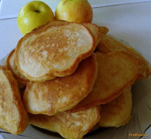 Рецепт Яблочные оладьи на сыворотке рецепт с фото