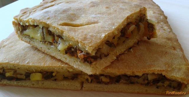 Рецепт Пирог с грибной икрой и картошкой рецепт с фото
