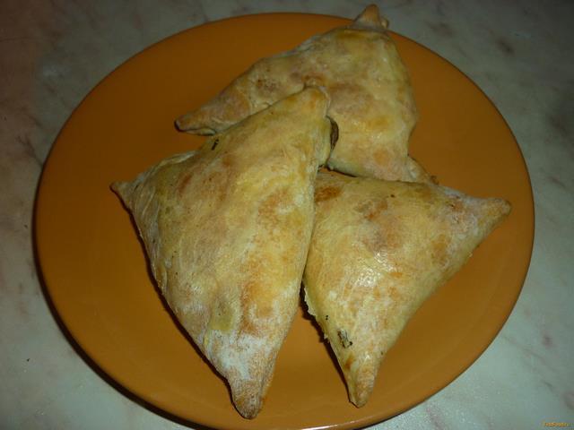 Рецепт Самса с курицей и луком рецепт с фото
