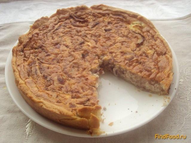 Рецепт Киш с красным луком и козьим сыром рецепт с фото