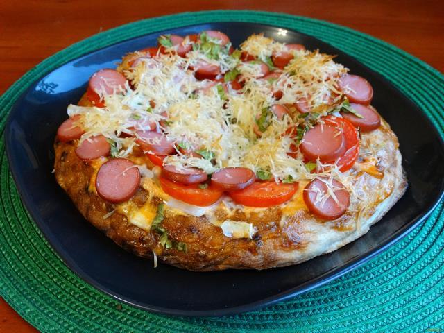Рецепт Пицца на лаваше рецепт с фото
