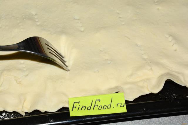 Слоеный пирог с зеленым луком и яйцом рецепт с фото 13-го шага