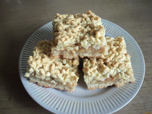 Рецепт Тертый пирог с яблочной начинкой рецепт с фото